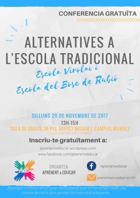 Cartell_Alternatives a l'escola tradicional